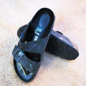 Birkenstock Spotted Metallic Arizona sandal 38